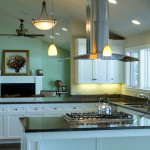 Kitchen Remodel - Range, Hood, cabinetry, counters, flooring - residential construction project