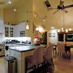 Custom kitchen, cabinetry, great room, dining room, cathedral ceiling - Custom build construction project