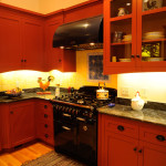 Kitchen Remodel - Vintage Range, Hood, custom cabinetry, counters, flooring - residential construction project